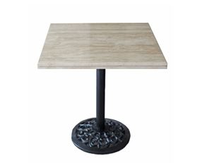 Marble Table Traverten / Desenli Siyah